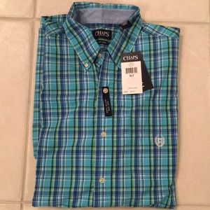 Men's big and tall chaps button down shirt